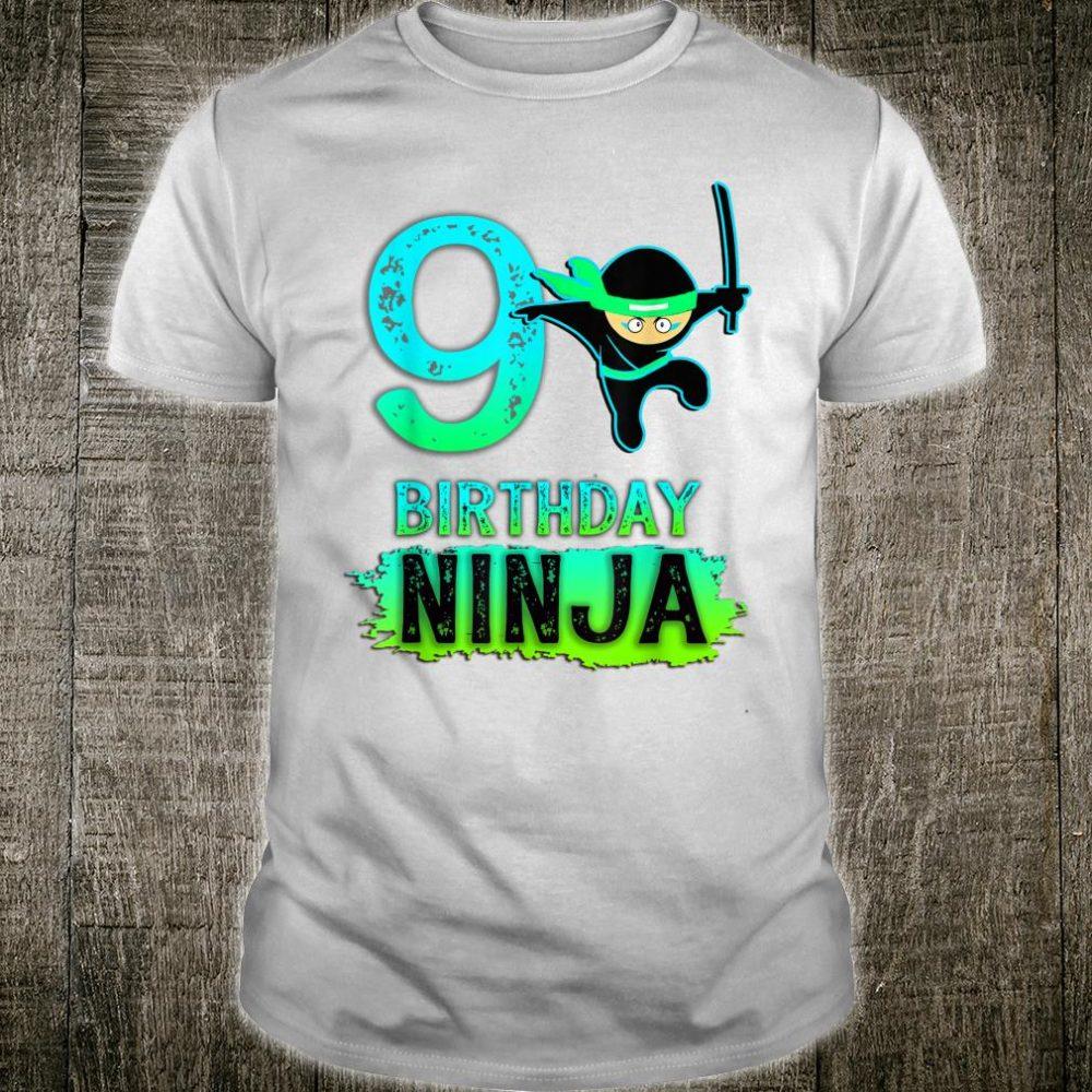9th Birthday Ninja for 9 year old Ninjas Shirt