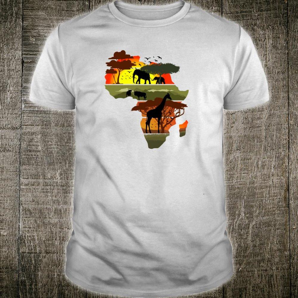 Africa Continent Sunset Safari Nature Wild Life Shirt