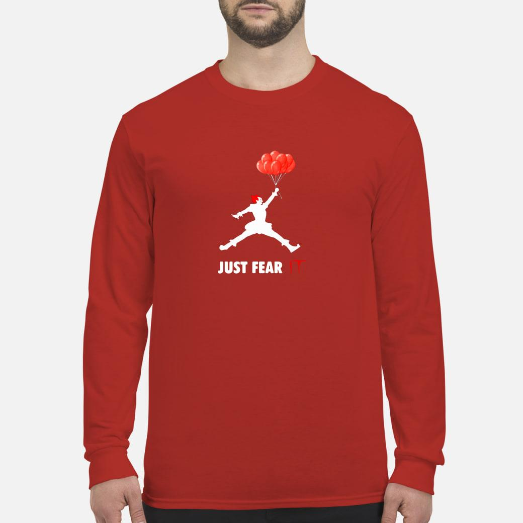 Air Jordan Pennywise just fear IT shirt long sleeved