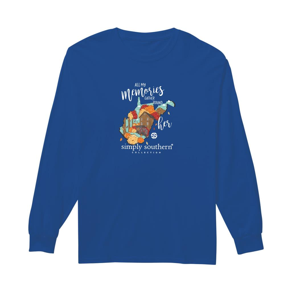 All my memories gather round her simply southern collection shirt long sleeved