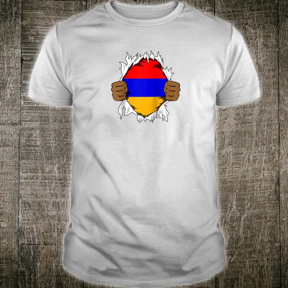 Armenia Blood Inside Me Flag Roots Heritage Armenians Shirt