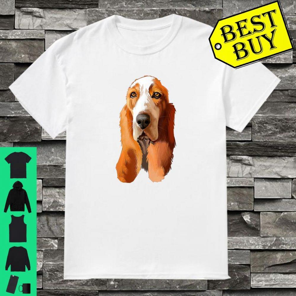 Art Basset Hound Face Basset Hound Smile Basset Hound Shirt