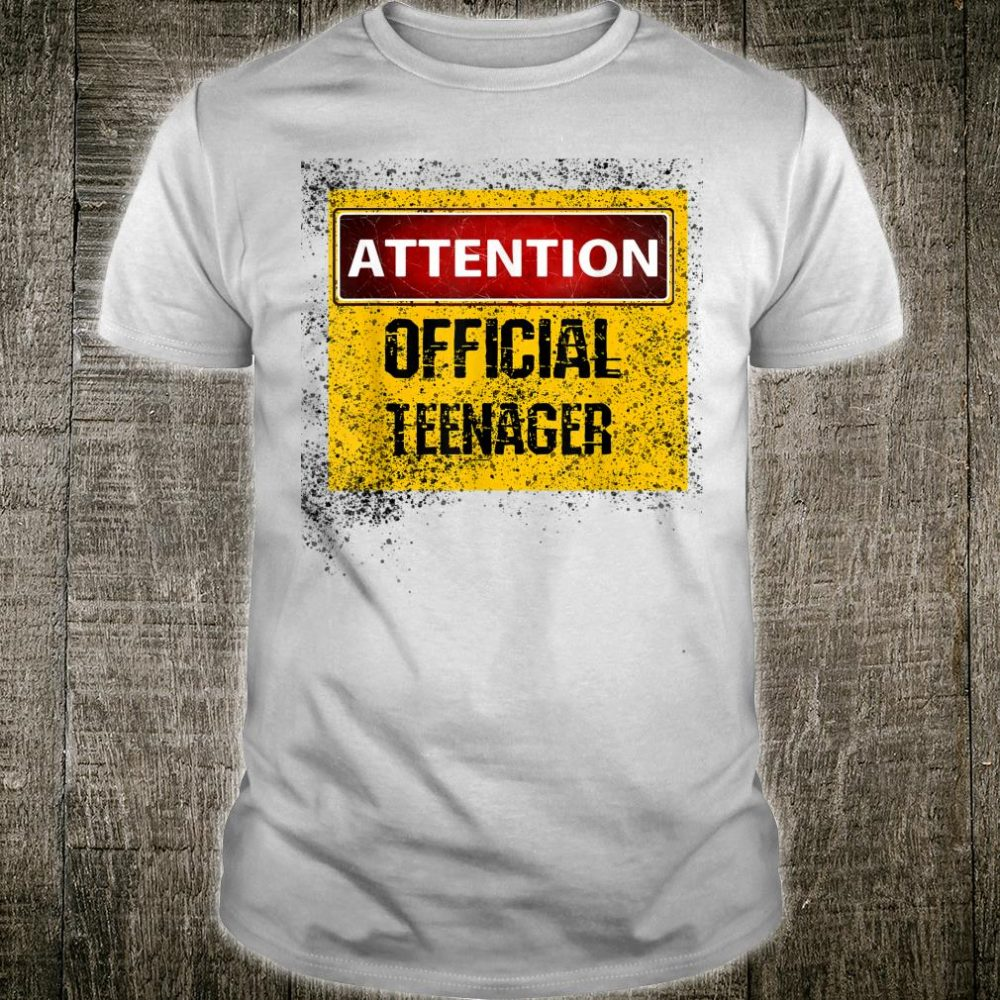 Attention Officialnager 13th Birthday celebration Shirt