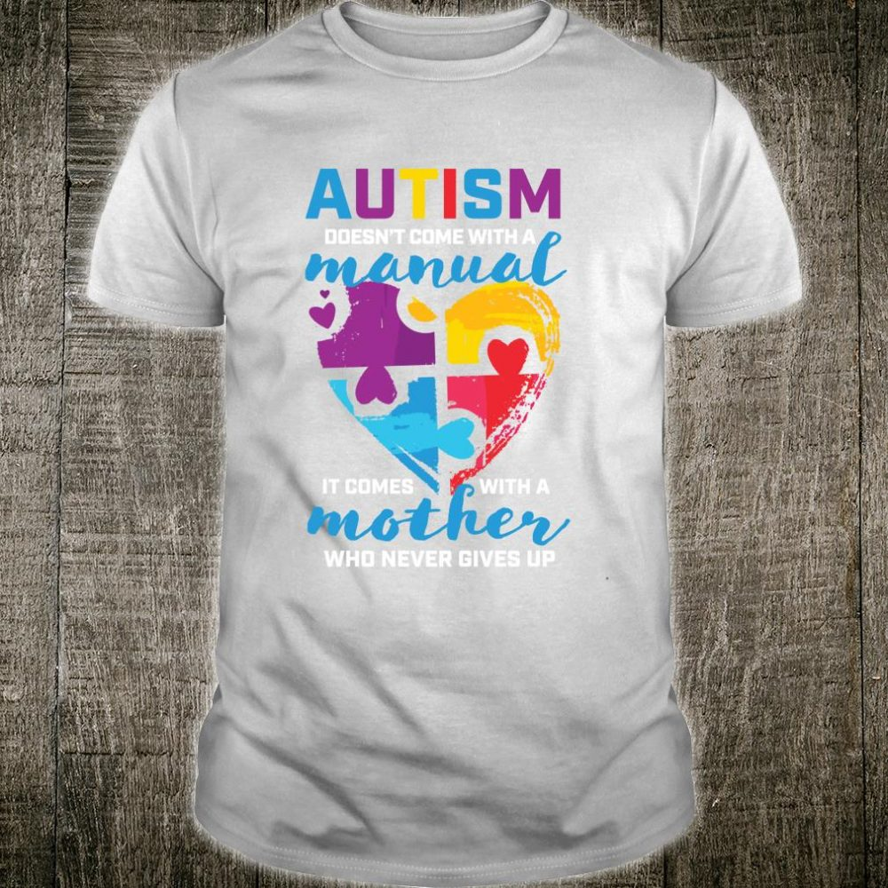 Autism Awareness Mom Cute Blue Autism Awareness Shirt