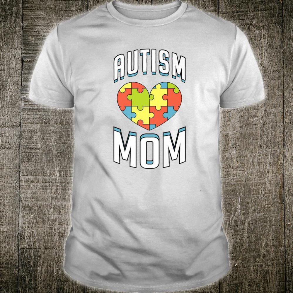 Autism Mom Heart Puzzle Cute Autism Awareness Shirt