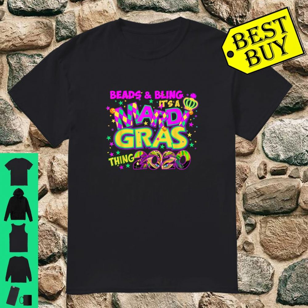 Beads Bling Costume Mardi Gras 2020 Gift Shirt