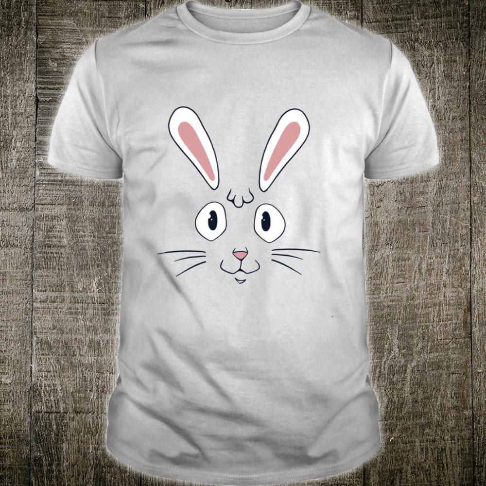 Big Cute Animal Cartoon Bunny Rabbit Face Shirt