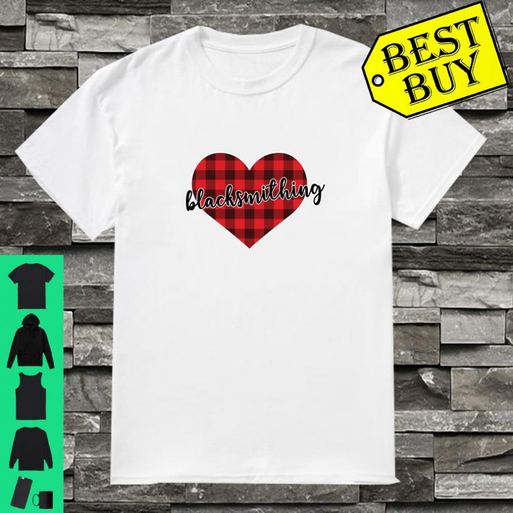 Blacksmithing Buffalo Plaid Heart Cozy Christmas Winter shirt