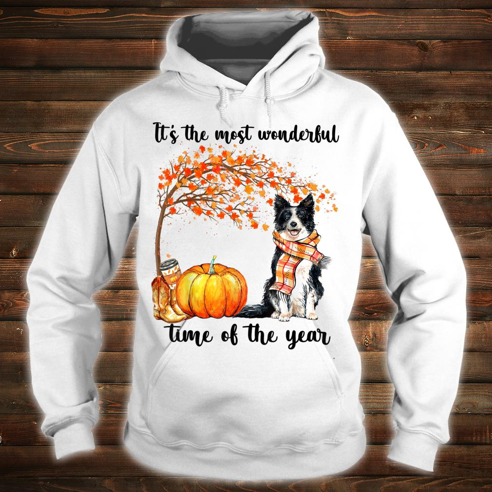 Border Collie Dog It's the most wonderful time of the year Shirt hoodie