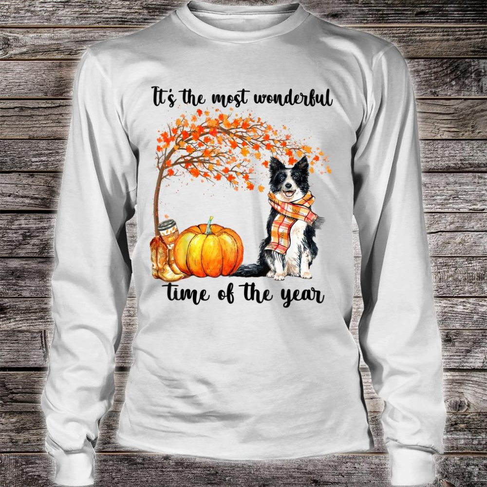 Border Collie Dog It's the most wonderful time of the year Shirt long sleeved