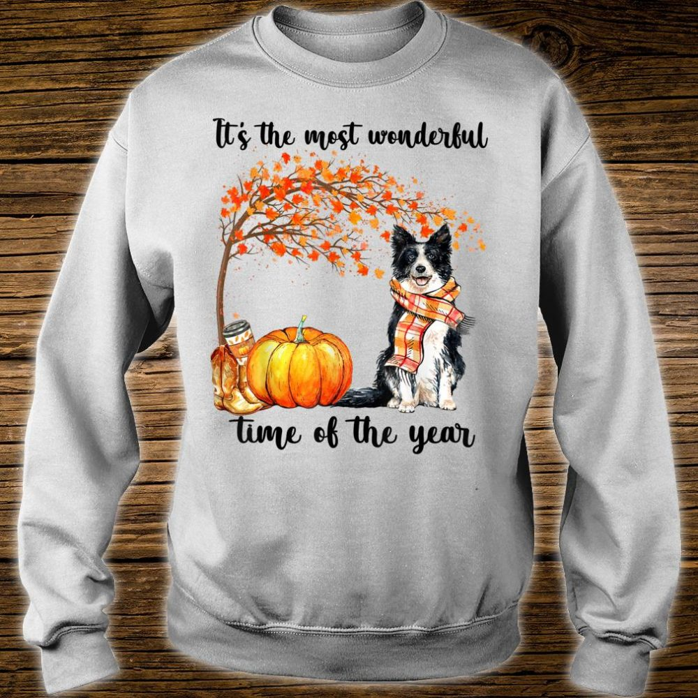 Border Collie Dog It's the most wonderful time of the year Shirt sweater