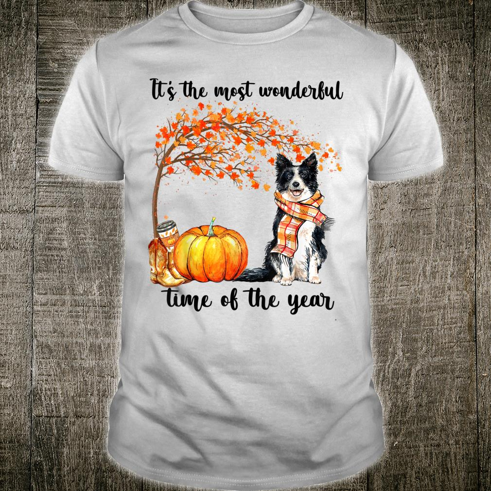 Border Collie Dog It's the most wonderful time of the year Shirt