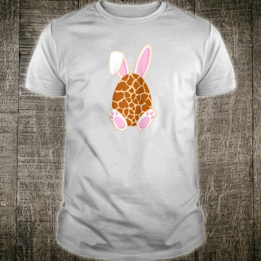 Bunny Easter egg Giraffe print Rabbit Ear Easter Day Shirt