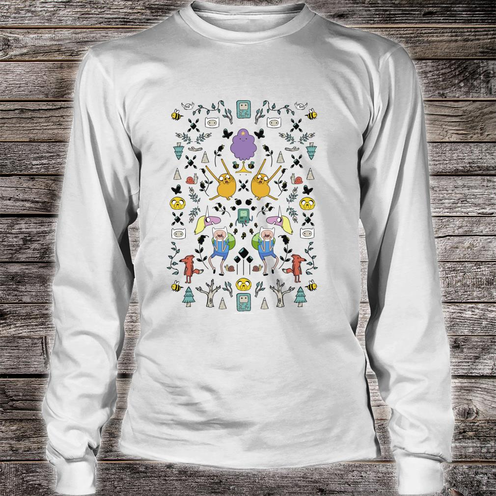 CN Adventure Time Group Shot Icons Shirt long sleeved