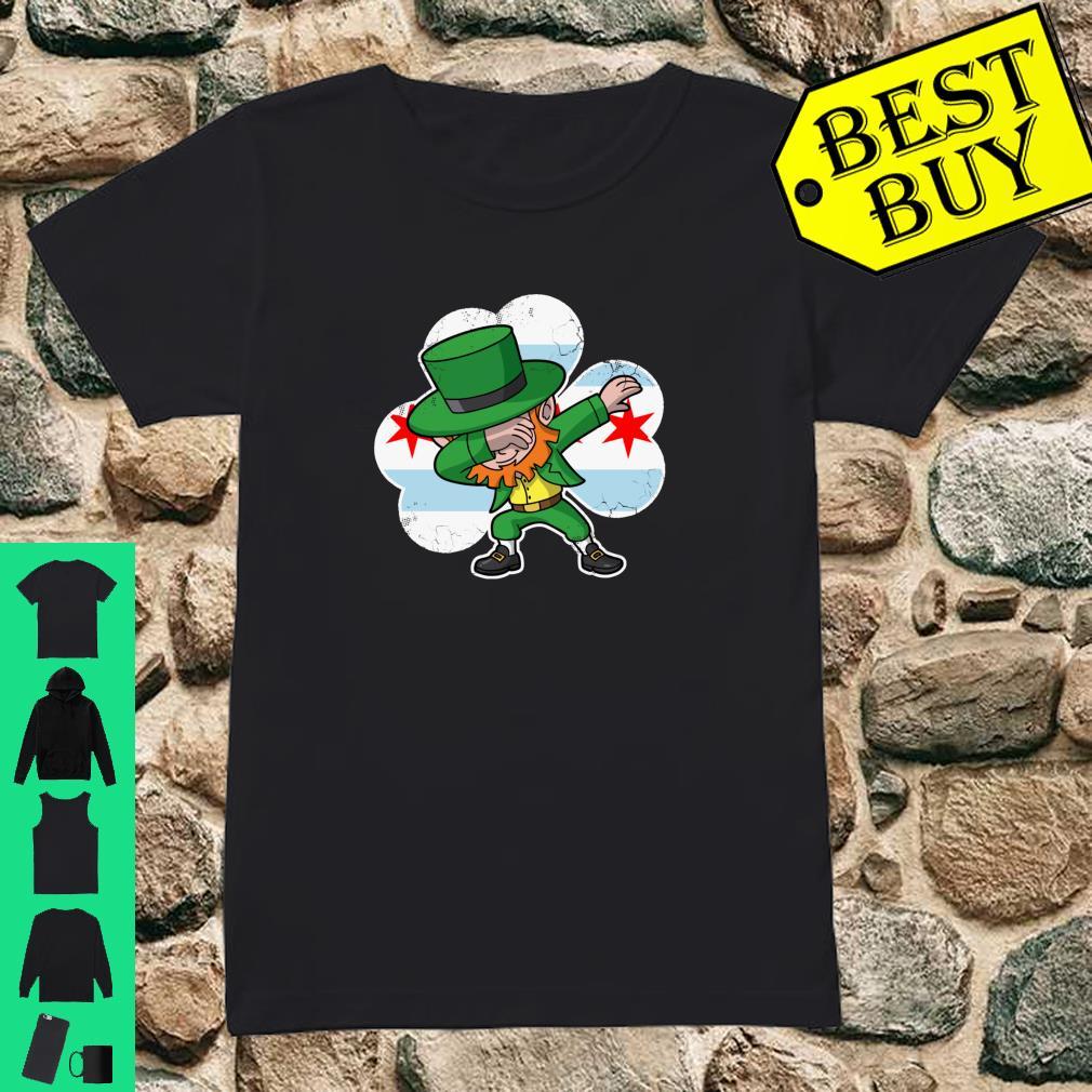 Chicago Irish Dabbing Leprechaun St Patricks Day Shirt ladies tee