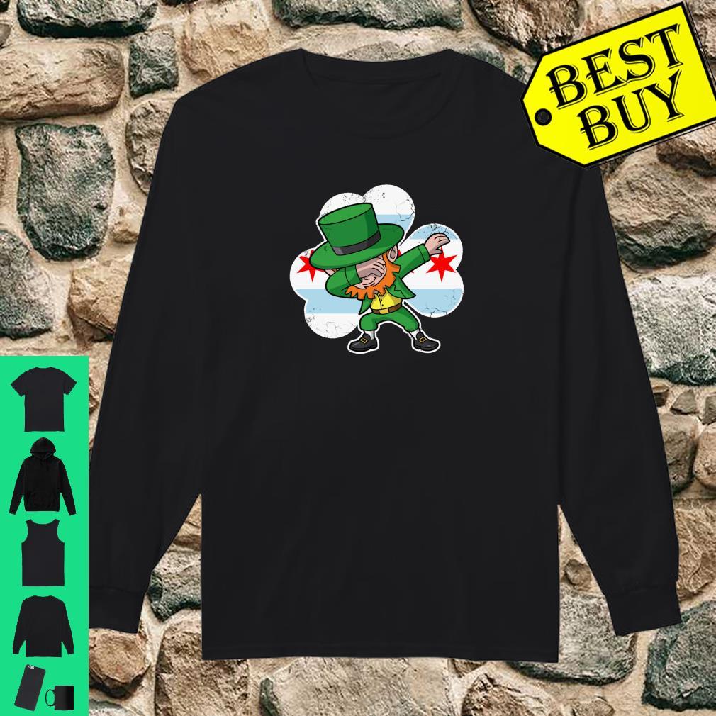 Chicago Irish Dabbing Leprechaun St Patricks Day Shirt long sleeved