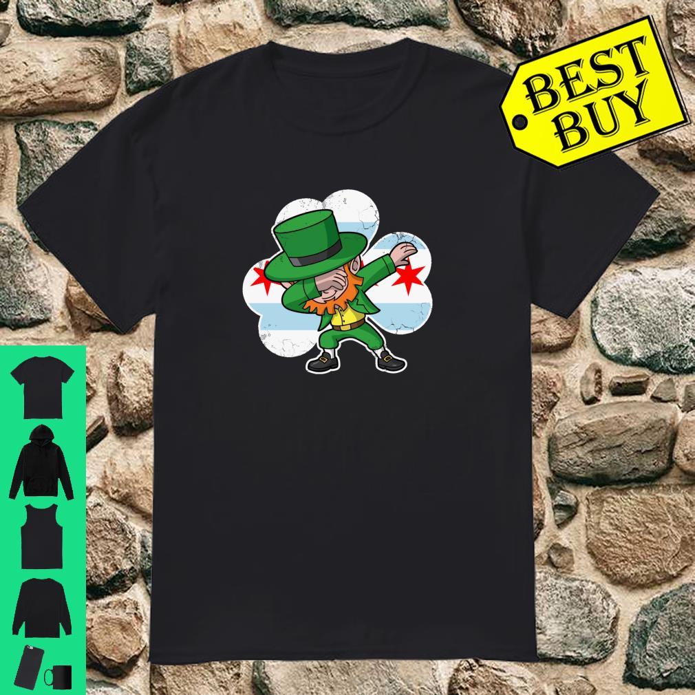 Chicago Irish Dabbing Leprechaun St Patricks Day Shirt