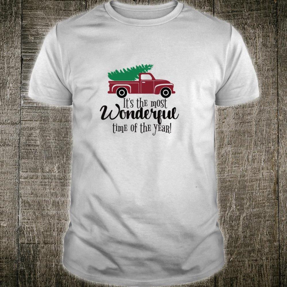 Christmas Vintage Truck, Christmas Tree Shirt