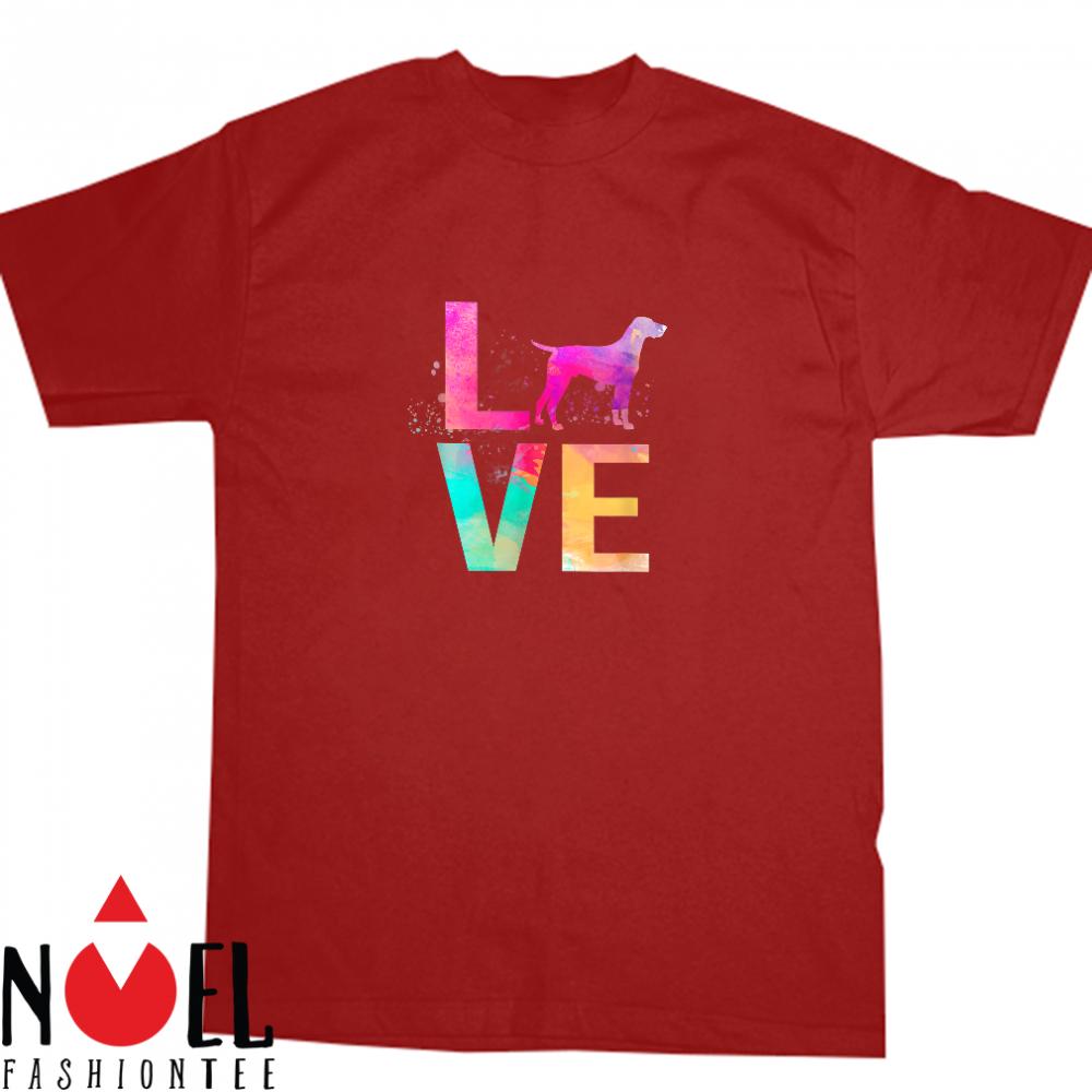 Colorful Dog Love Shirt