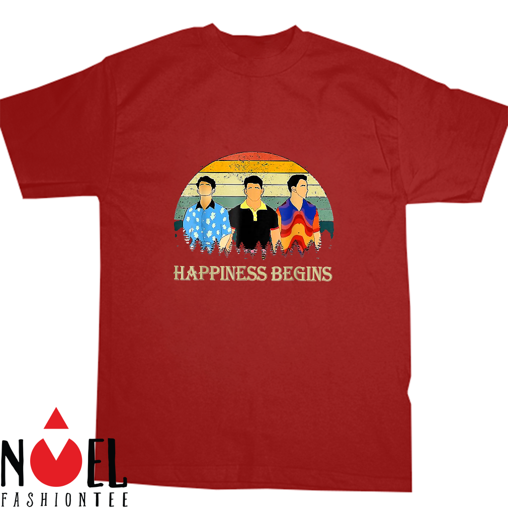 Cool brothers Gifts happiness begins Lovers Shirt