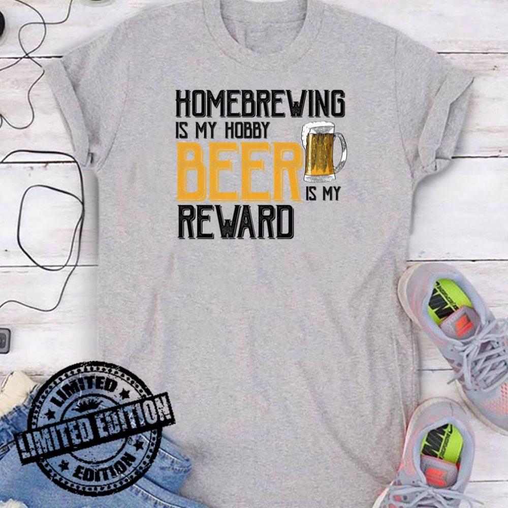 Craft Beer Grandpa Homebrewing Hobby Beer Reward shirt