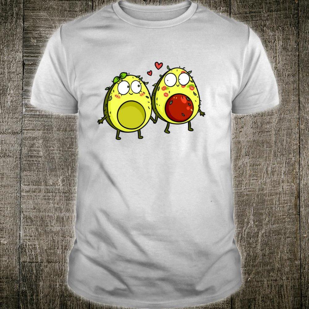 Cute Avocado Couple in Love Shirt