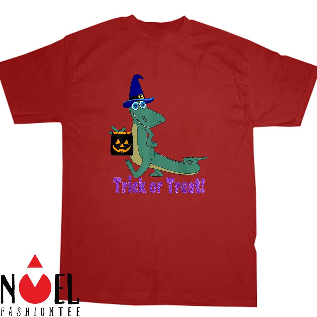 Cute Bayou Louisiana Alligator Halloween Trick Or Treat Shirt