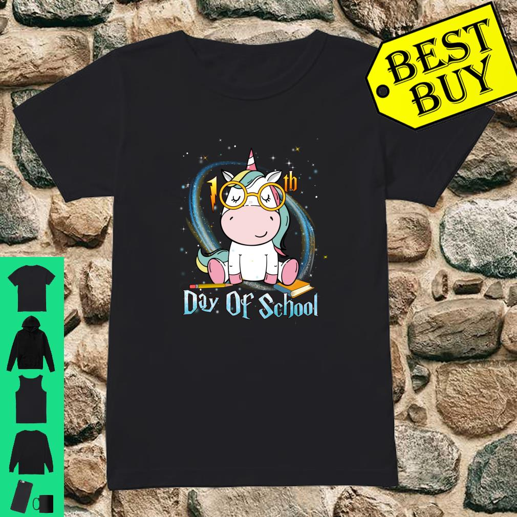 Cute Unicorn 100th Day Of School 100 Days Smarter Shirt ladies tee