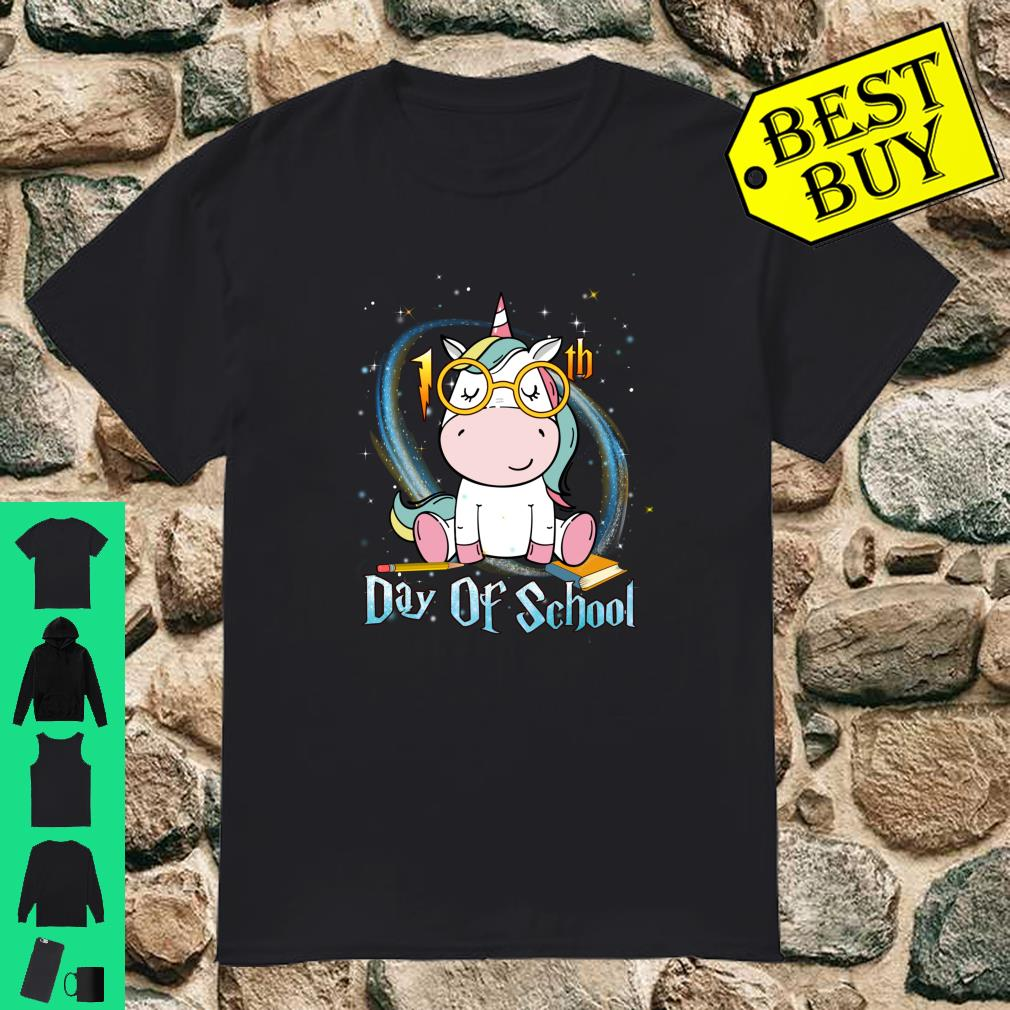 Cute Unicorn 100th Day Of School 100 Days Smarter Shirt