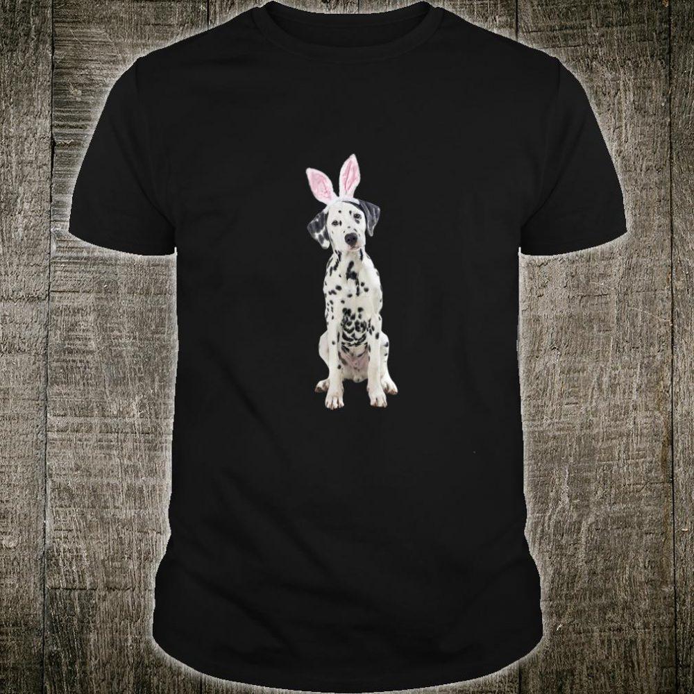 Dalmatian Wearing Easter Bunny Ears Dog Shirt