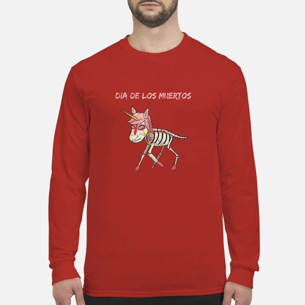 Dia De Los Muertos Unicorn Shirt long sleeved
