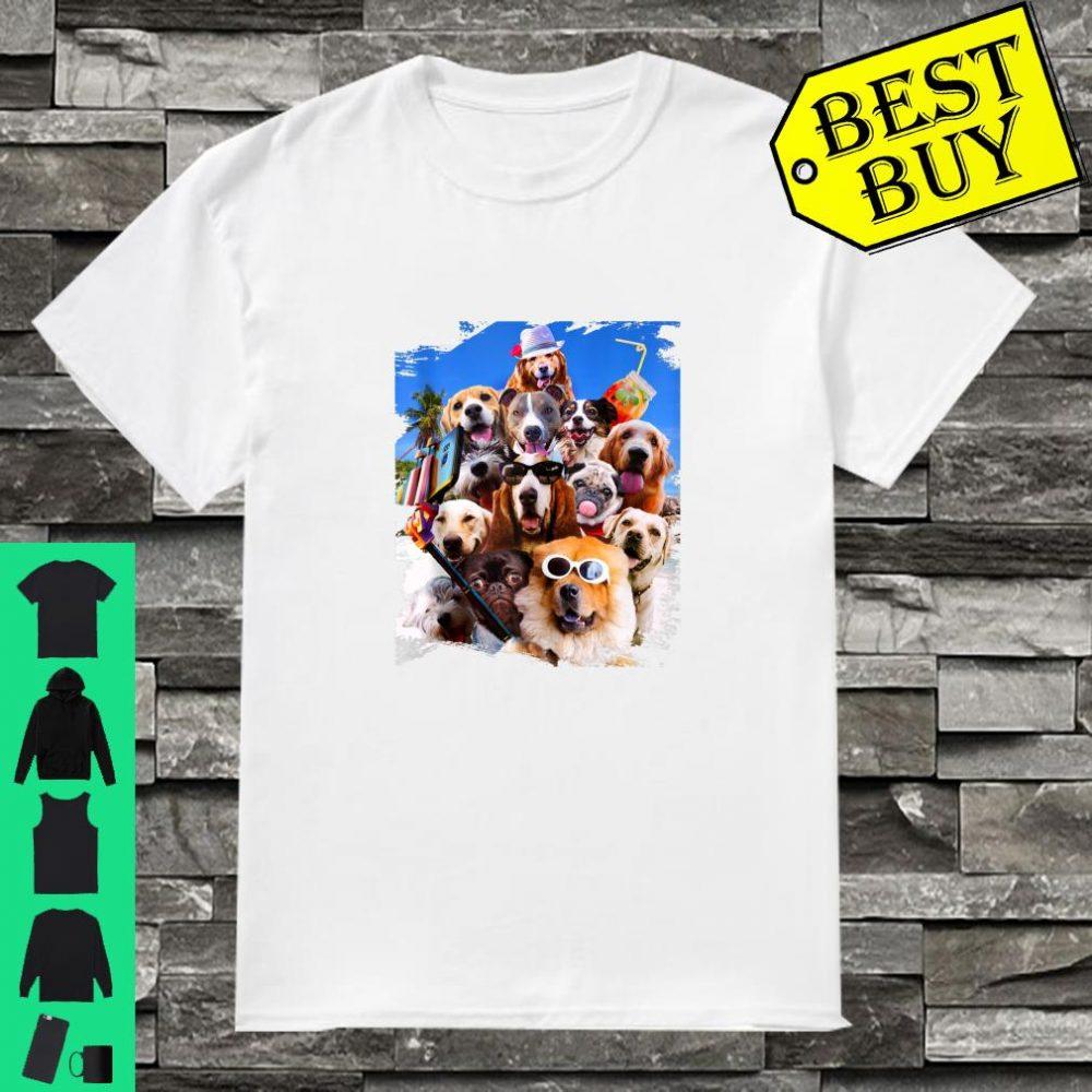Dog Selfie Wearing Glasses Shirt
