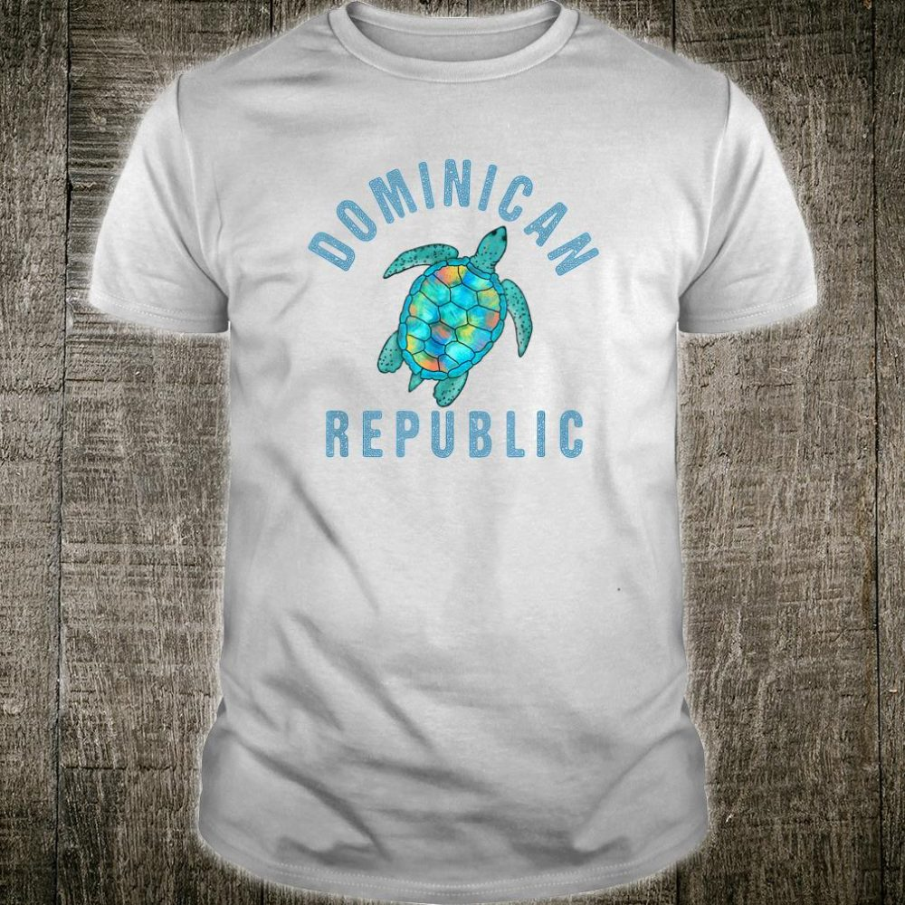 Dominican Republic Beach Design Sea Turtle Illustration Shirt