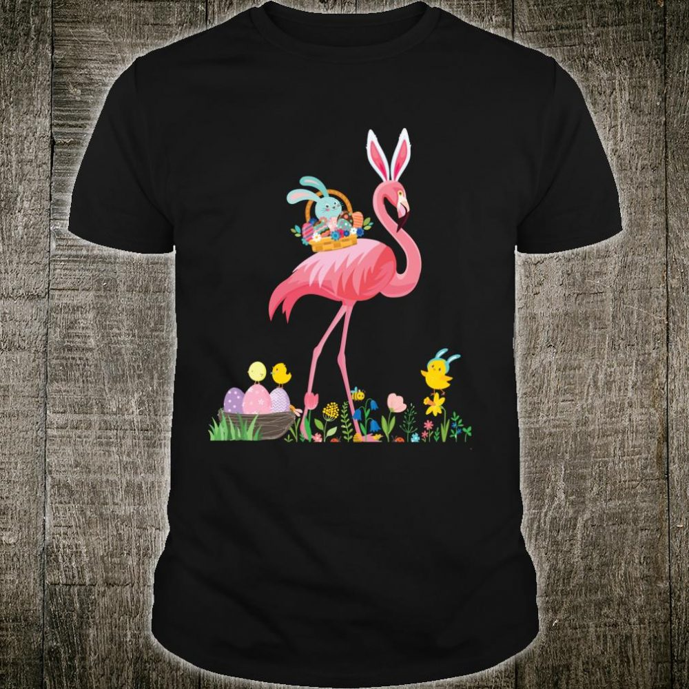 Easter Flamingo Easter Basket Shirt