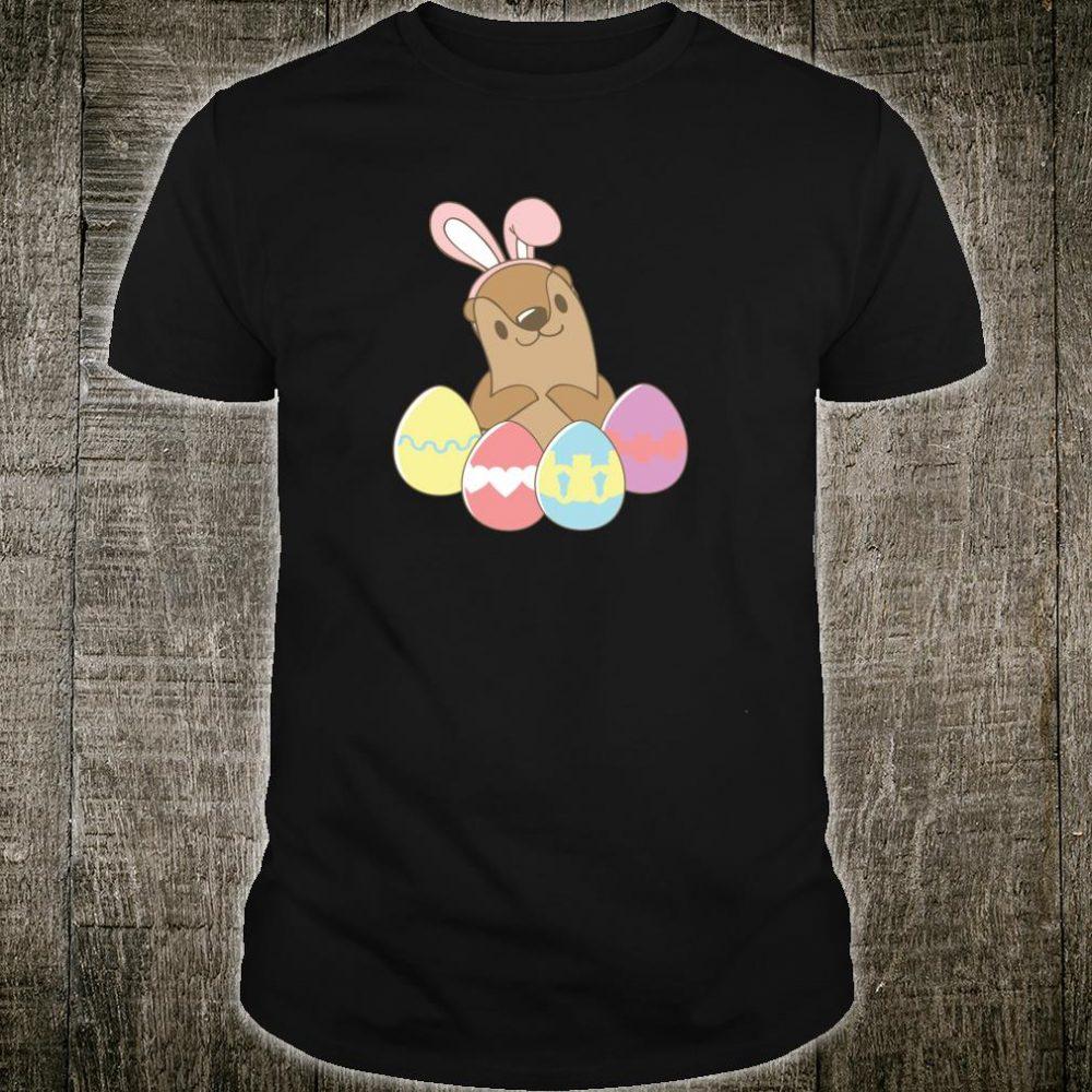 Easter Otter Bunny Seeotter Osterhase Ostereier Ostern Hase Shirt