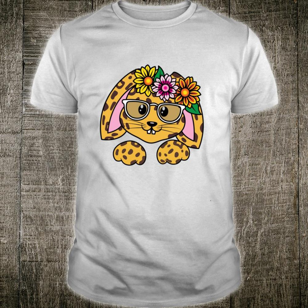 Easter Rabbit Sunflower Animal Print Leopard Wild Egg Hunt Shirt