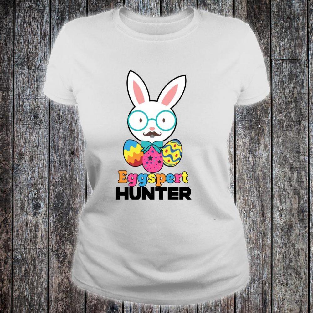 Easter Sunday Eggspert Hunter Bunny or Candy Shirt ladies tee
