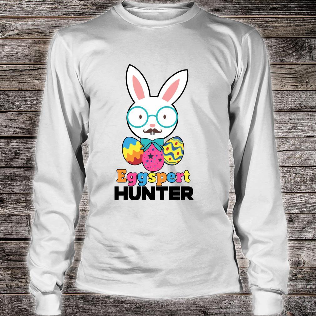 Easter Sunday Eggspert Hunter Bunny or Candy Shirt long sleeved