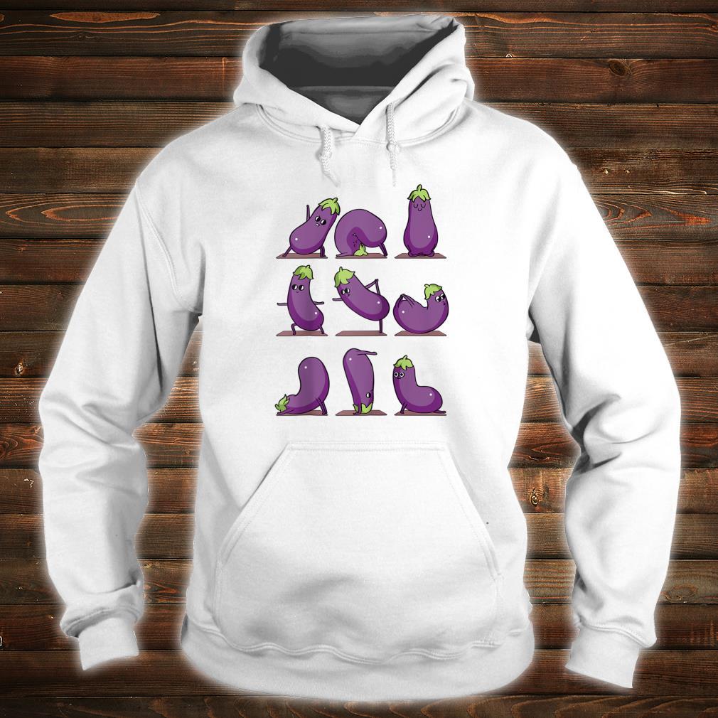 Eggplant Yoga Shirt hoodie