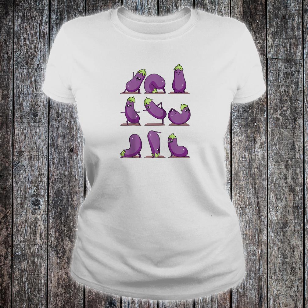 Eggplant Yoga Shirt ladies tee