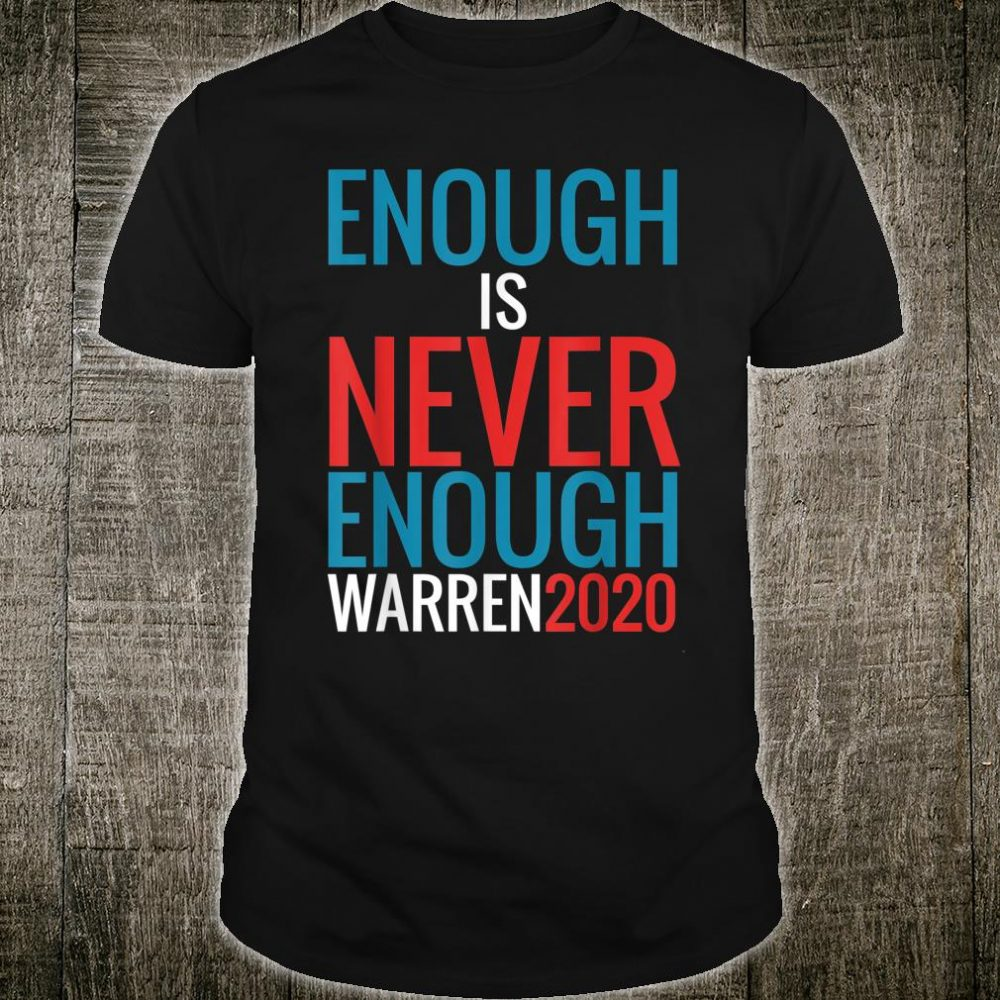 Enough Is Never Enough Feminist Election Democrat Voting Shirt