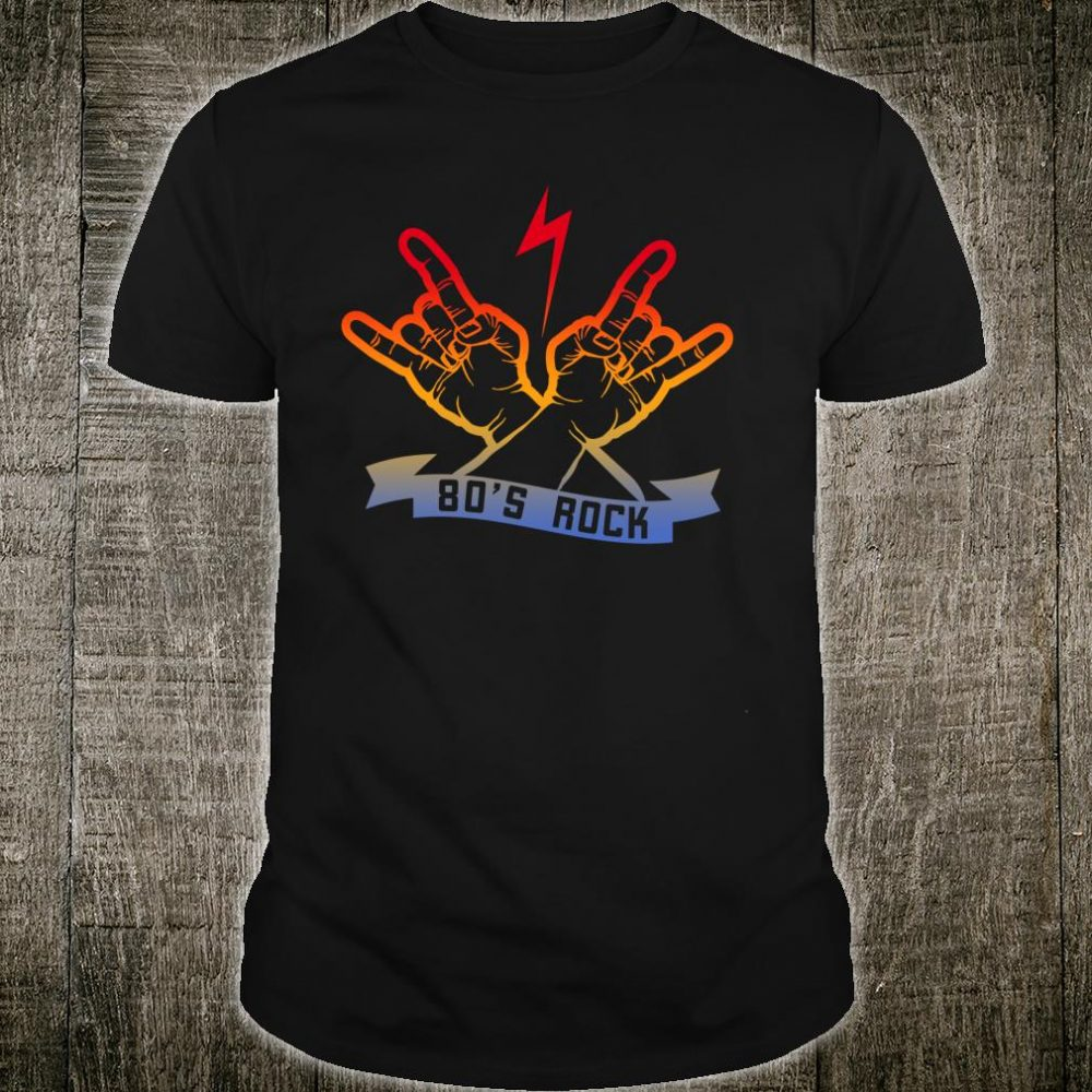 Faded 1980s Rock Roll design For Eighties Rockers Band Shirt