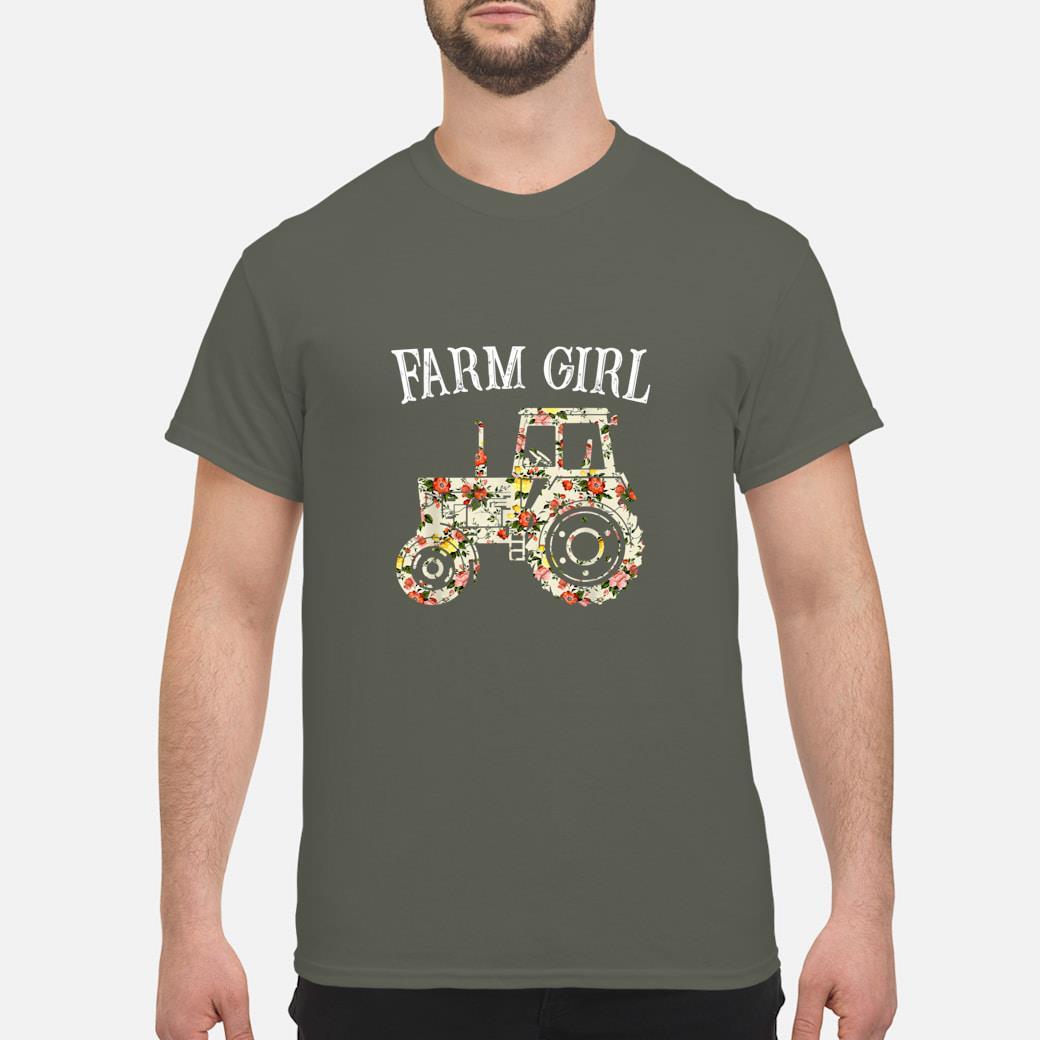 Farm Girl loves Tractors Flower shirt