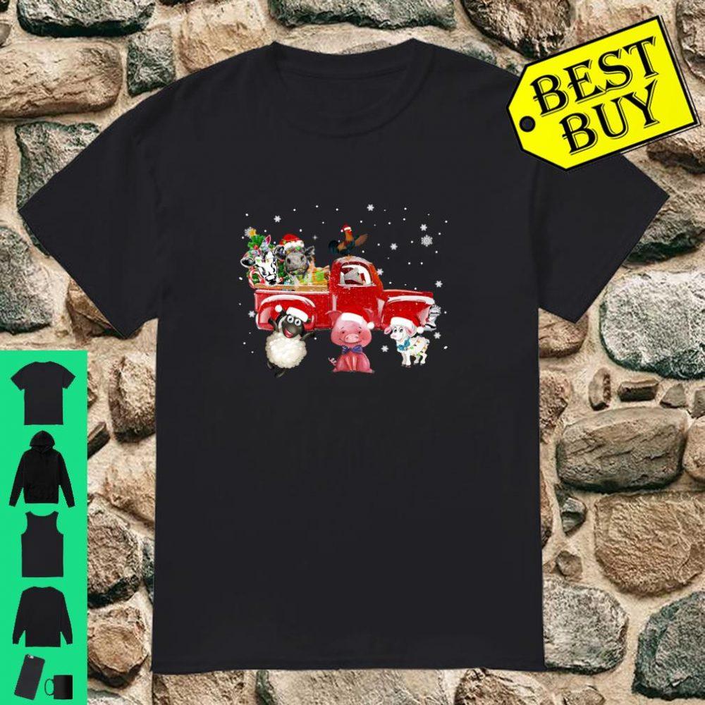 Farmer Cattle Chicken Pig Cow Heifer Sheep Christmas shirt