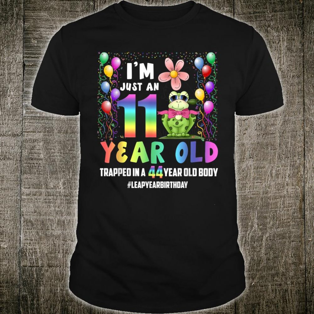 February 29 44 Year Old Birthday Leap Year Leap Day Frog Shirt