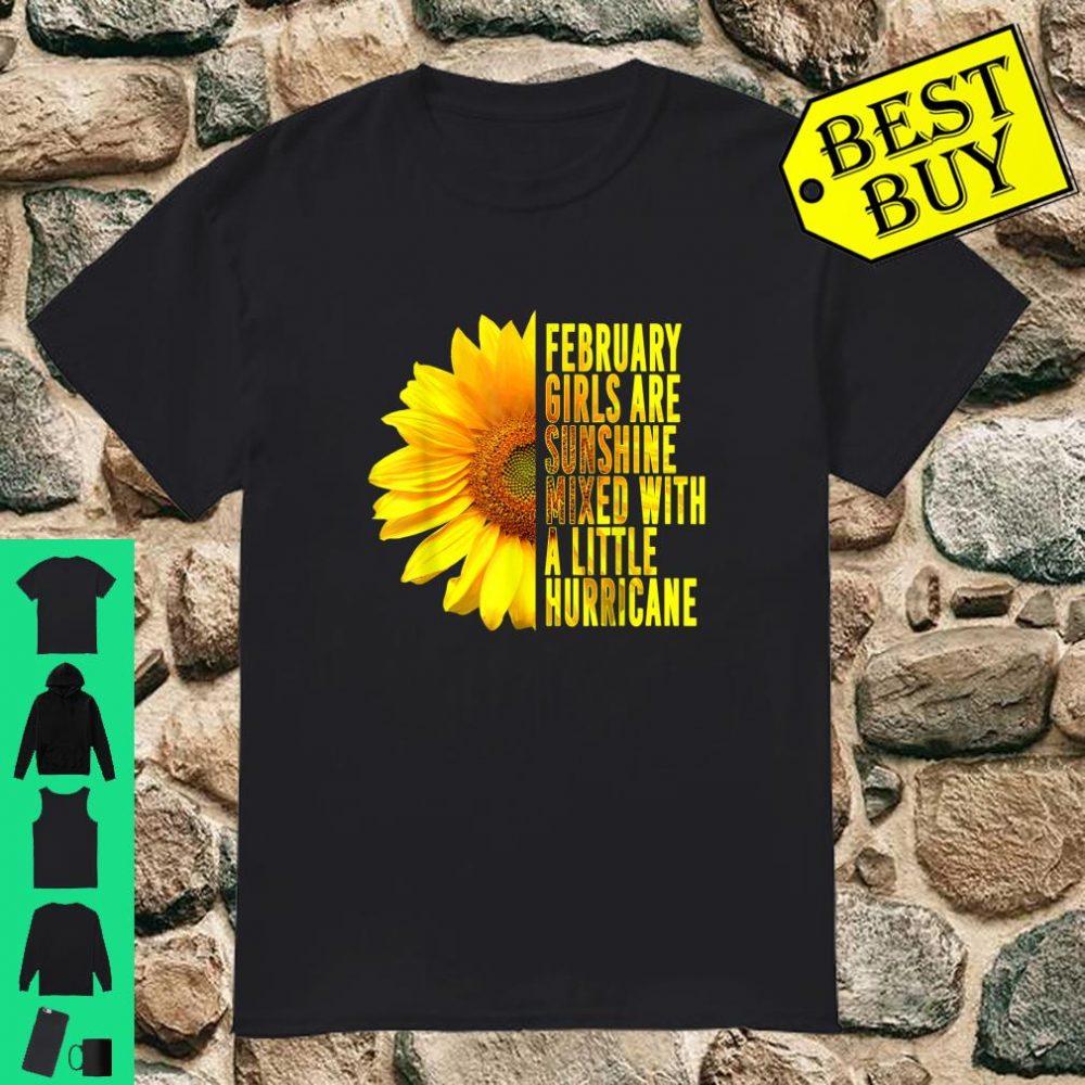 February GIRLS ARE SUNSHINE MIXED HURRICANE Sunflower Gift Shirt