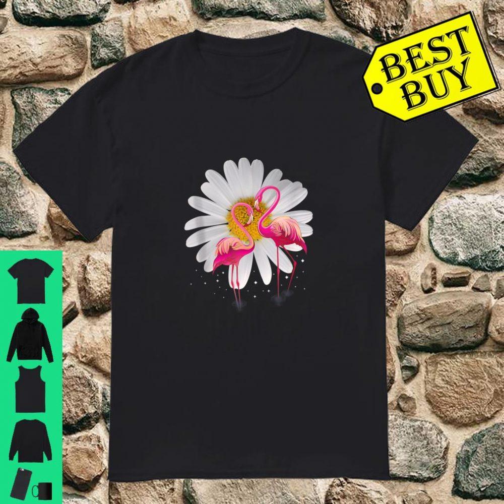 Flamingo Daisy Flower Hippie Shirt