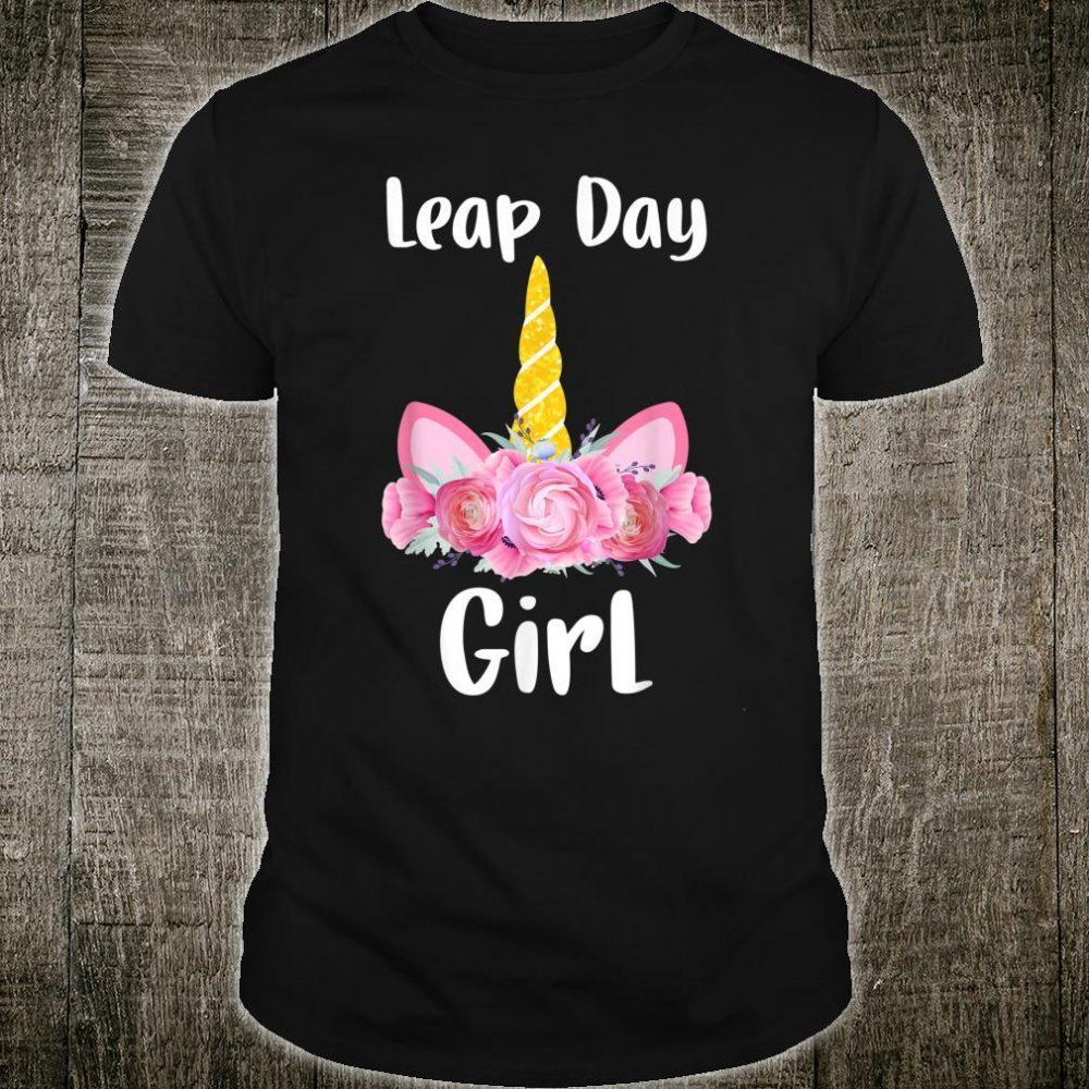 Floral Unicorn Leap Year Birthday 29 February for girls Shirt