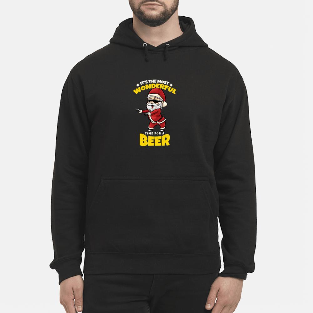 Flossing Santa Claus Most Wonderful Time For Beer Shirt hoodie