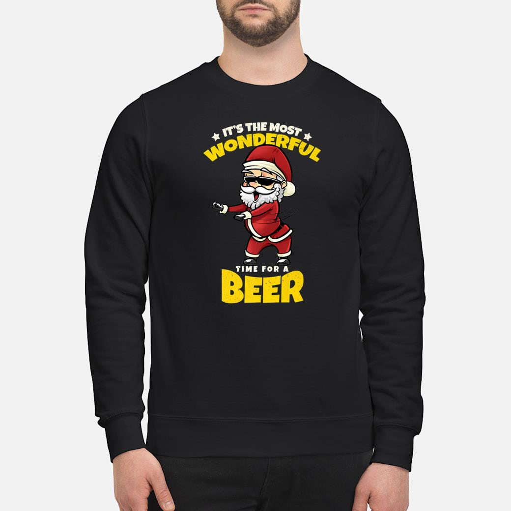 Flossing Santa Claus Most Wonderful Time For Beer Shirt sweater